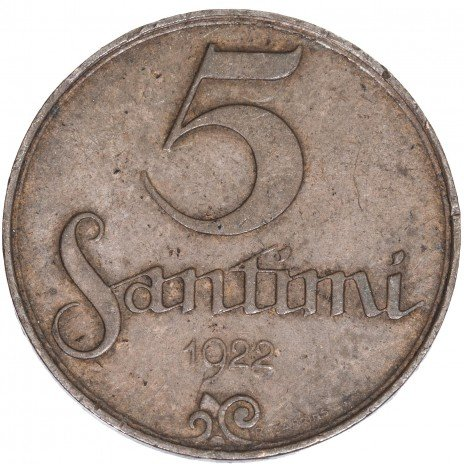 купить Латвия 5 сантимов 1922