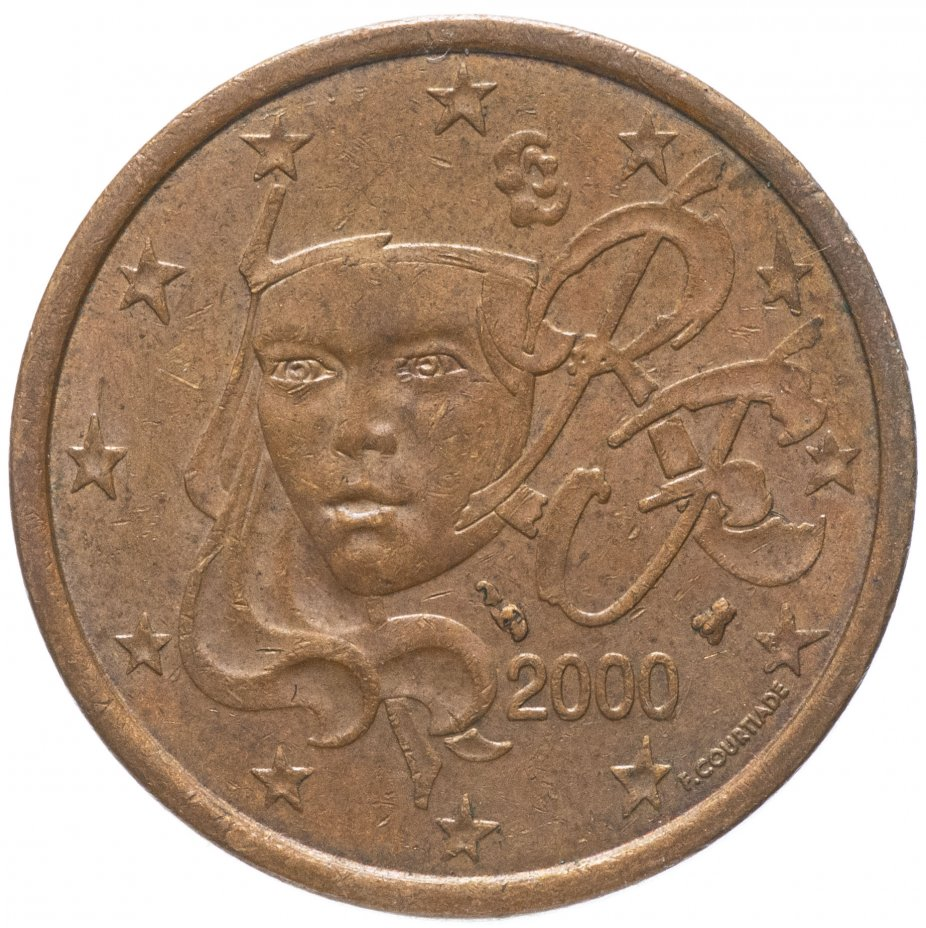 купить Франция 5 центов (cents) 1999-2019