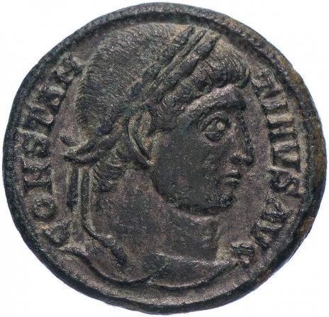 купить Римская Империя Константин I 306-337 гг фоллис (реверс: крепостная башня с воротами)