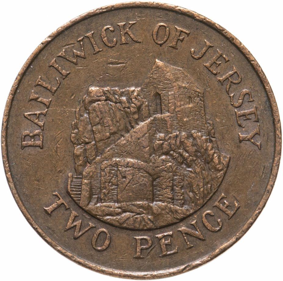 купить Джерси 2 пенса (pence) 1983-1990, случайная дата