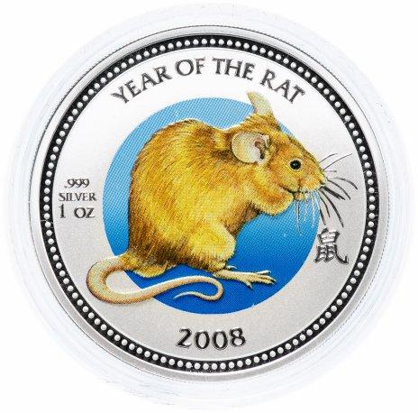 """купить Острова Питкэрн 2 доллара 2008 """"Китайский гороскоп - год крысы"""""""