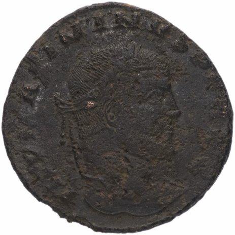 купить Римская Империя Максимин Даза 305–312 гг фоллис (реверс: Юпитер стоит влево, держит молнии и скипетр)