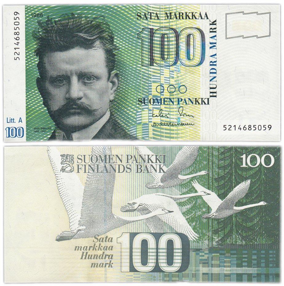 купить Финляндия 100 марок 1986 (Pick 115) Литера А