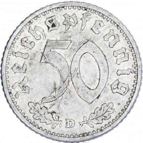 купить Третий Рейх Фашистская Германия 50 рейхспфеннигов 1940