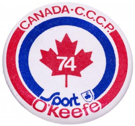 купить Значок Хоккей  Суперсерия СССР — Канада 1974 (Разновидность случайная )