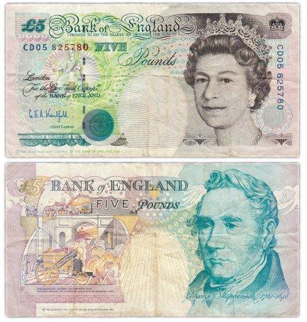 купить Англия 5 фунтов 1990 (Pick 382а)