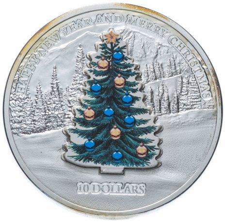 """купить Науру 10 долларов 2008 """"Новый год - Ёлочка"""" монета-трансформер"""