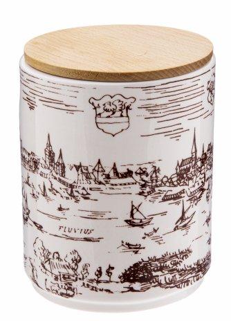 """купить Чашка чайная с крышкой, фарфор, деколь, дерево, мануфактура """"Hertwig&Co"""", Германия, 1968-1990 гг."""