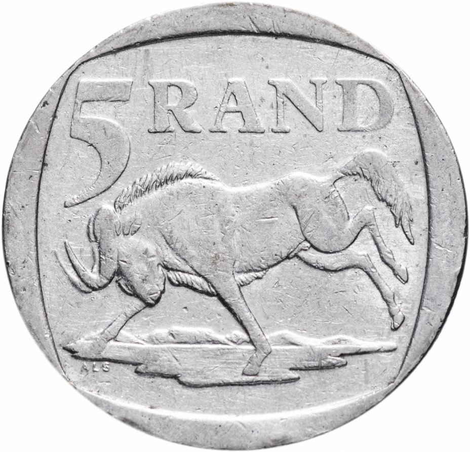 купить ЮАР 5 рандов (рэндов, rand) 1996-2000, случайная дата