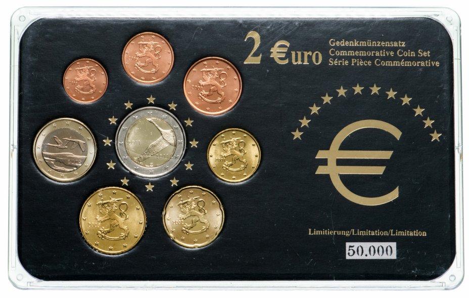 купить Финляндия набор из 8 монет евро 2001-2011, в футляре