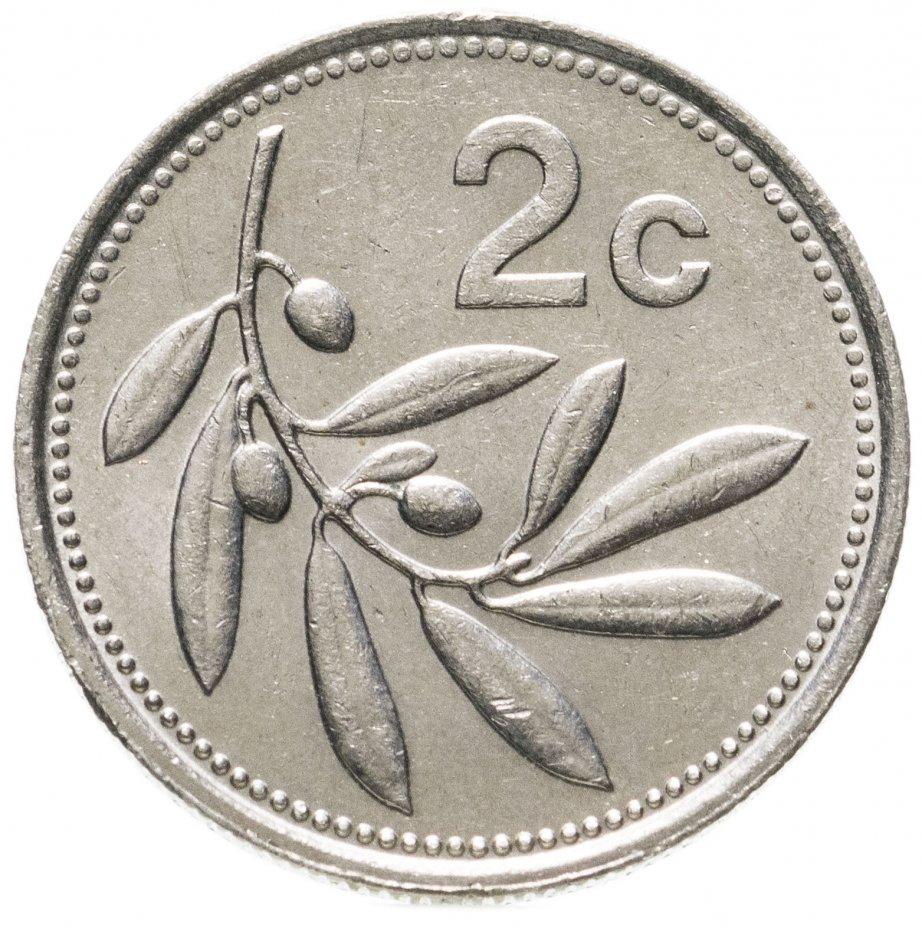 купить Мальта 2 цента (cents) 1991-2005, случайная дата