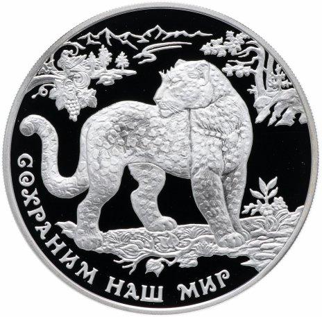 """купить 3 рубля 2011 ММД  """"Сохраним наш мир - Переднеазиатский леопард"""""""