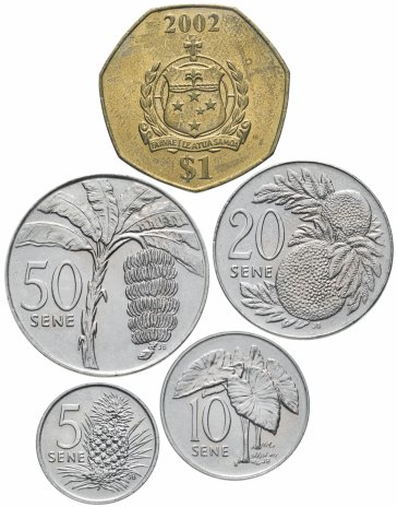 купить Самоа набор монет 2002  ( 5 монет )