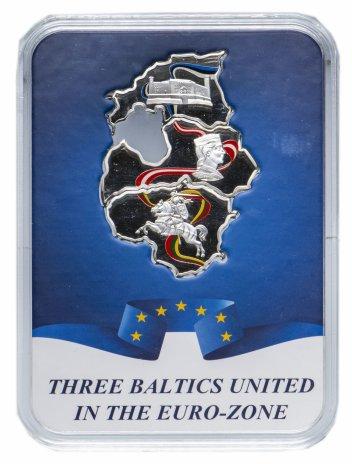 """купить Конго 50 франков 2015 набор из 3х монет """"Прибалтийские государства в Еврозоне"""""""