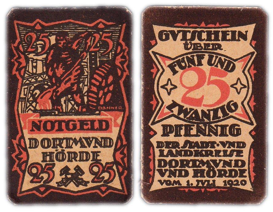 купить Германия (Дортмунд) 25 пфеннигов 1920