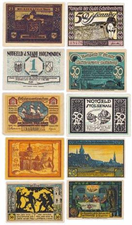 купить Германия (разные земли) набор из 10 нотгельдов 1921-1922