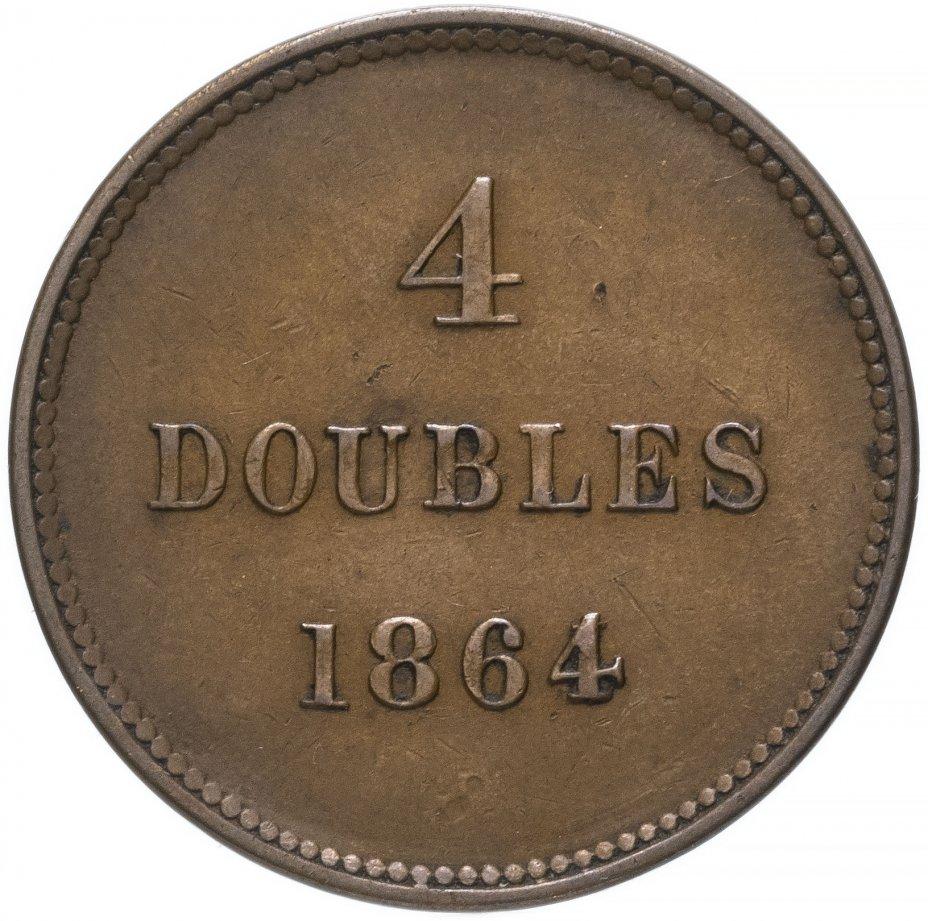купить Гернси 4 дубля (doubles) 1864