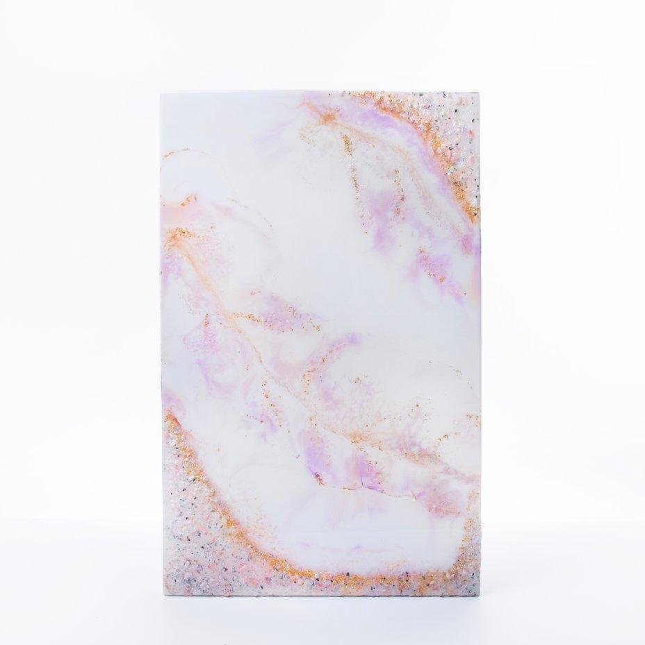 """купить Панно настенное """"Весна"""",  авторская ручная работа в технике Resin Art, глянцевое 3D покрытие, натуральный камень, стекло, Россия, 2021 г."""
