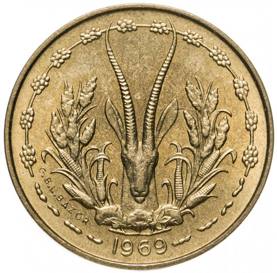 купить Западная Африка (BCEAO) 5 франков (francs) 1969