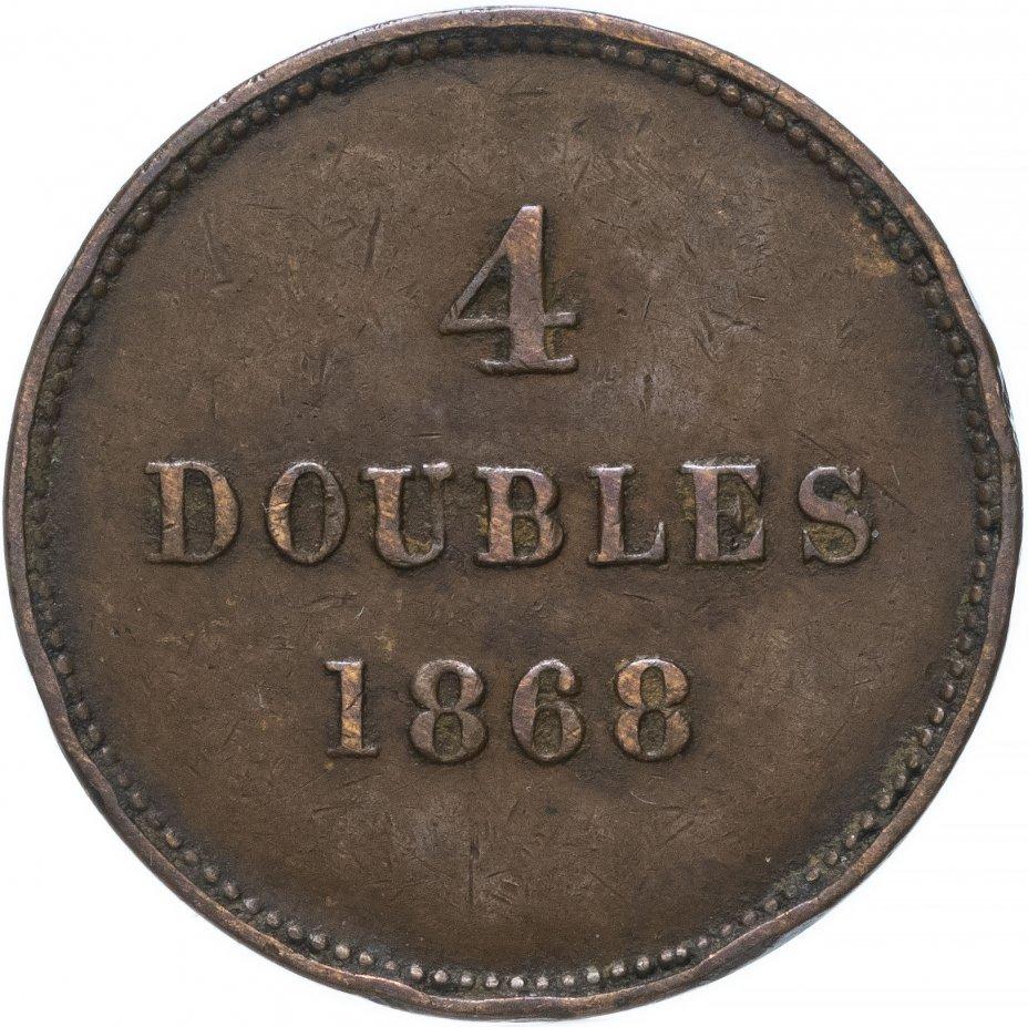купить Гернси 4 дубля (doubles) 1868