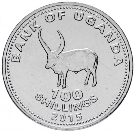 купить Уганда 100 шиллингов 2015 Бык