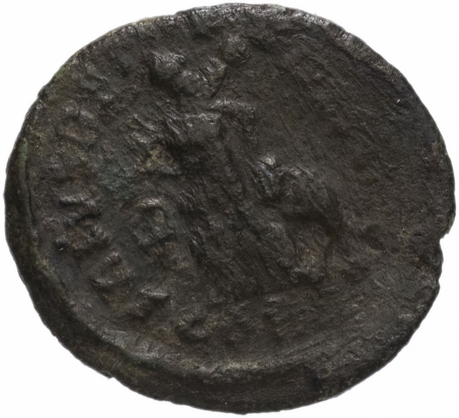 купить Римская Империя Аркадий 395–408 гг 4 денария (реверс: Виктория идет влево, несет трофей, волочит за волосы пленника)