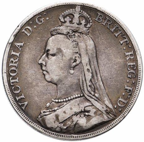 купить Великобритания 1 крона 1890 Королева Виктория