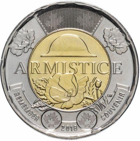 """купить Канада 2 доллара 2018 """"100 лет со дня окончания Первой Мировой войны"""""""