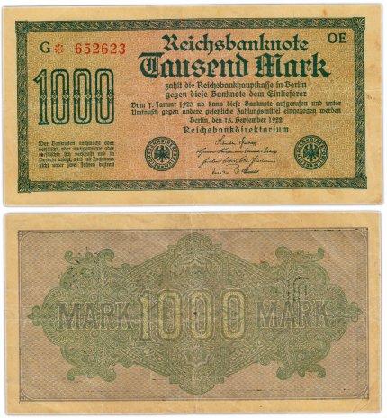 купить Германия 1000 марок 1922 Pick 76b(3)