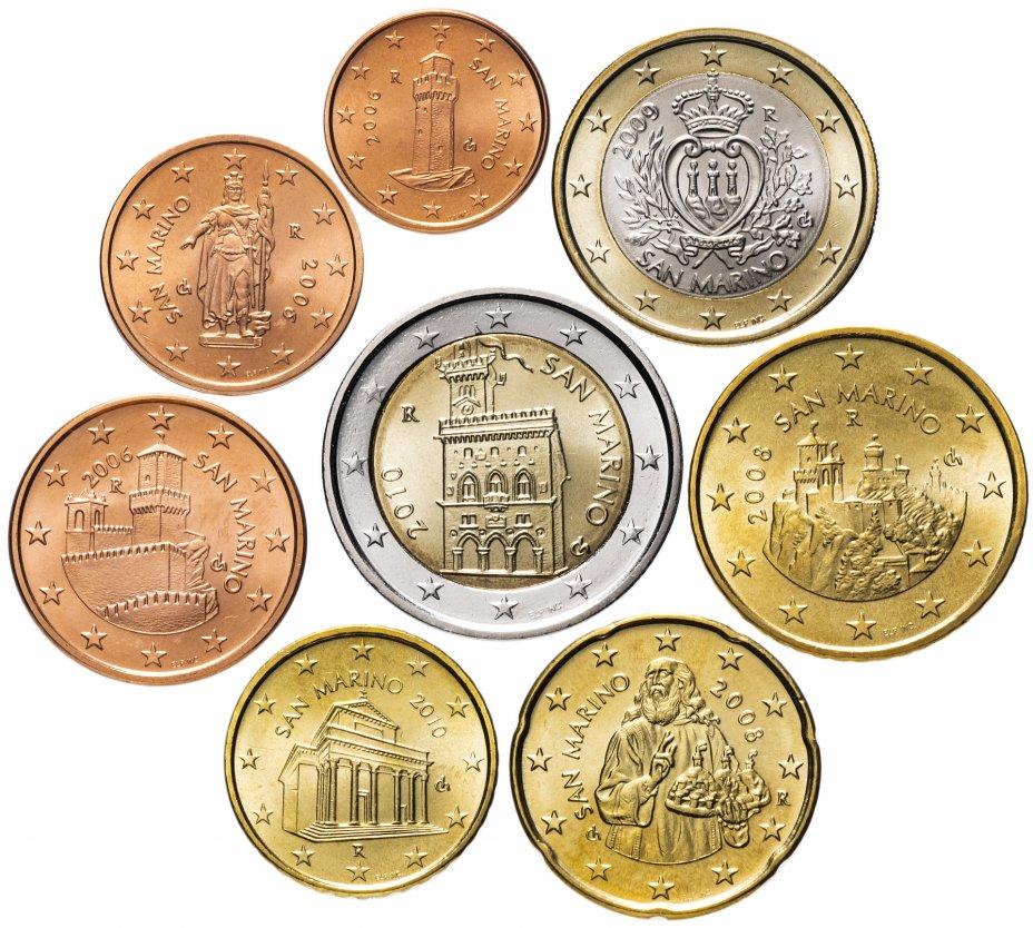 купить Сан-Марино полный набор евро для обращения 2003-2012 (8 штук, UNC) в запайке