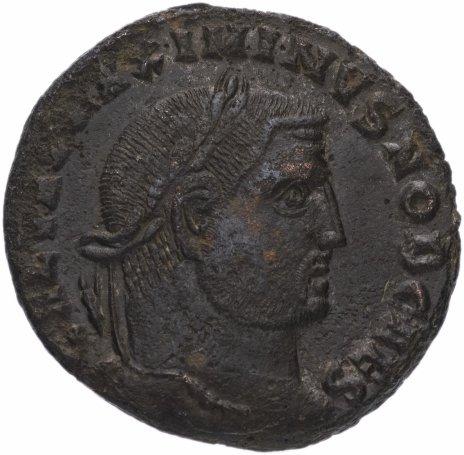 купить Римская Империя Максимин Даза 305–312 гг фоллис (реверс: Гений стоит влево, держит патеру и рог изобилия)