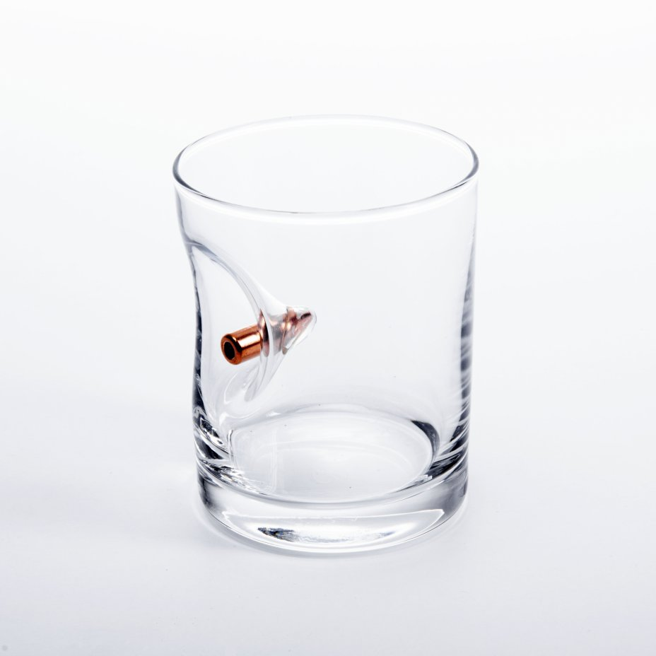 """купить Стакан для виски """"Непробиваемый"""", с пулей, стекло, Россия, 2020-2021 гг."""