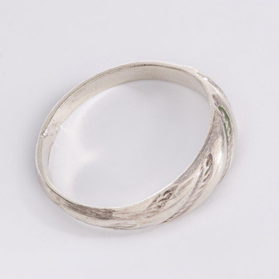 купить Кольцо, стилизованное под закрученную верёвку, сплав металла, СССР, 1970-1990 гг.