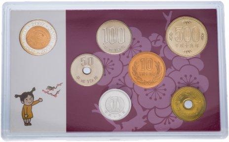 купить Япония Годовой набор монет 2007 (6 монет + жетон)