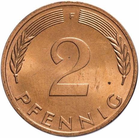 купить Западная Германия (ФРГ) 2 пфеннига 1972 F