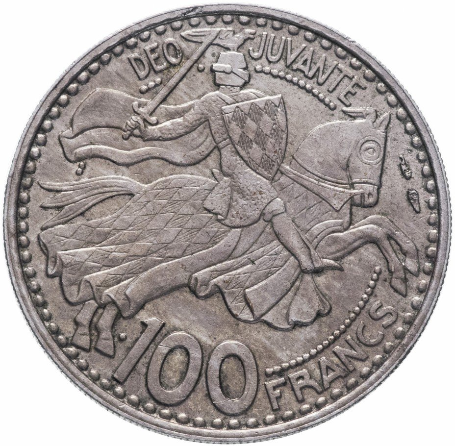 купить Монако 100 франков 1950
