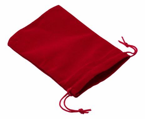 купить Бархатный мешочек, красный, 14х10 см