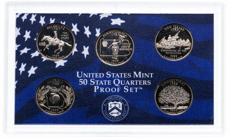 """купить США годовой набор квотеров 1999 """"Штаты"""" (5 монет)"""