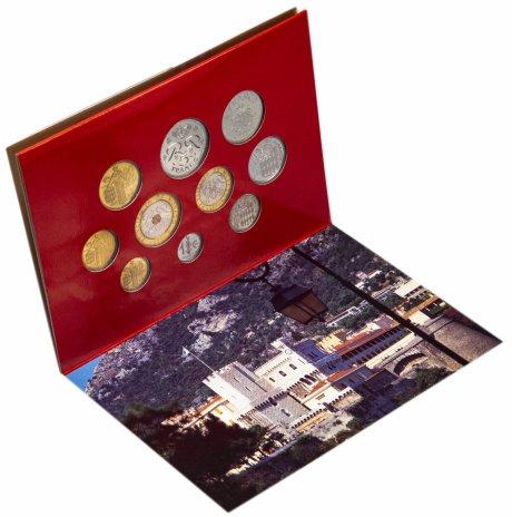 купить Монако годовой набор из 10 монет 1995 в буклете