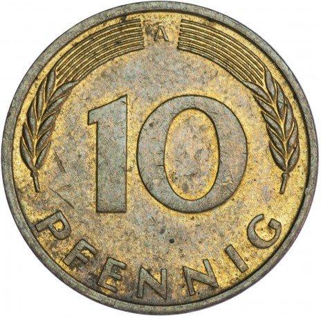 купить Германия 10 пфеннигов 1990