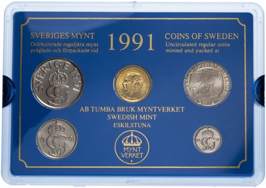 купить Швеция годовой набор 1991