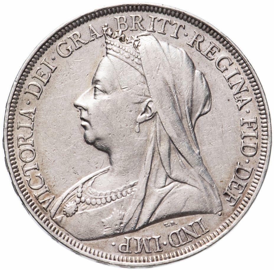 купить Великобритания 1 крона (crown) 1897  Дата на гурте LXI