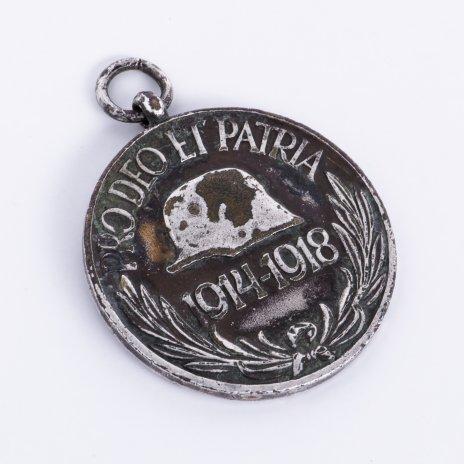 """купить Медаль юбилейная в память Первой Мировой войны """"PRO DEO ET PATRIA. 1914-1918"""", бронза, серебрение, Венгрия, 1929 г."""