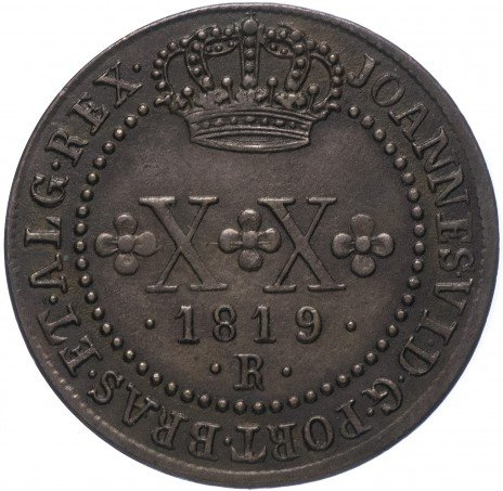 купить Бразилия 20 реалов 1819 R