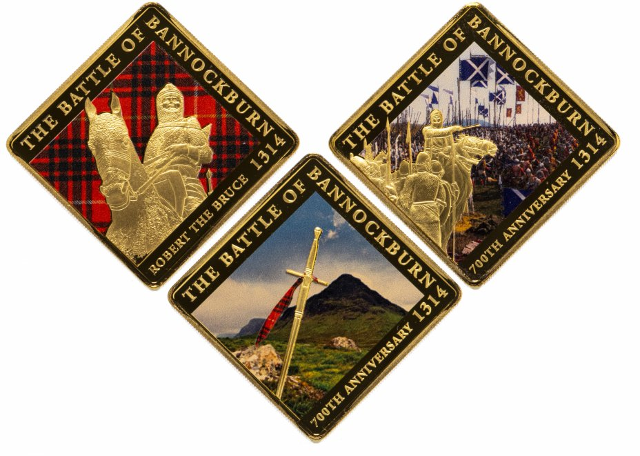 купить Сомали набор 25 шиллингов 2013 (3 штуки, цветные) Битва при Бэннокберне