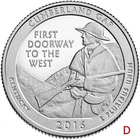 купить США 25 центов (квотер) 2016 D — Камберленд Гэп