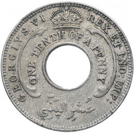 купить Британская Западная Африка 1/10 пенни 1938-1947 (случайный год)