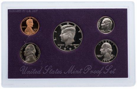 купить США Годовой набор монет 1992 Proof (5 штук) в упаковке