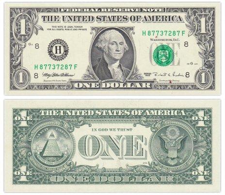"купить США 1 доллар 1995 (Pick 496a) H-Сент Луис ""FW"" (Fort Worth)"