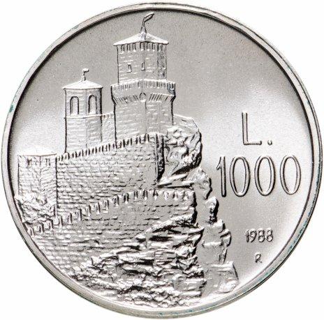 """купить Сан-Марино 1000 лир 1988 """"Прима Торре (Крепость Гуайта)"""""""